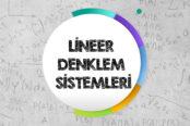 Lineer Denklem Sistemleri
